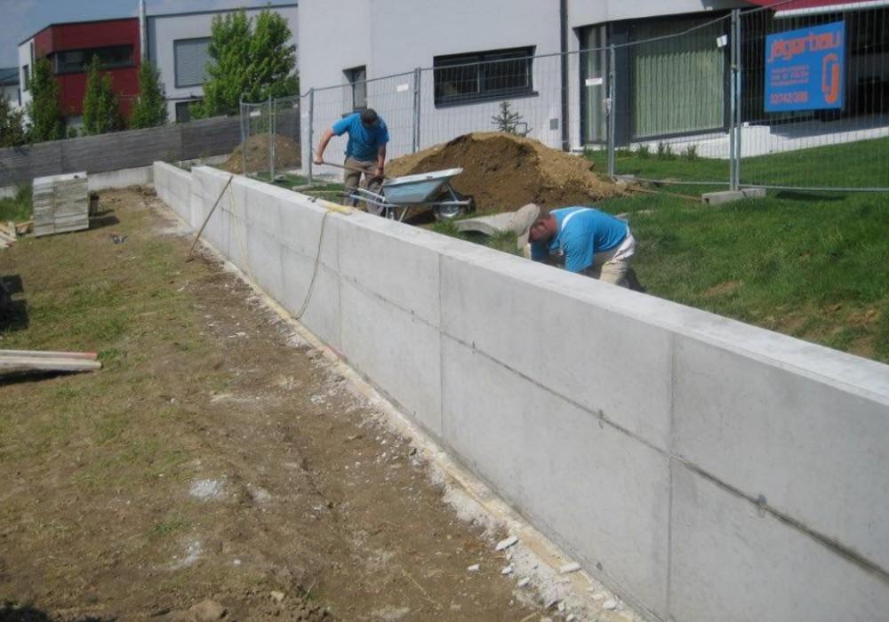 1a Ortbetonmauer Geschalt