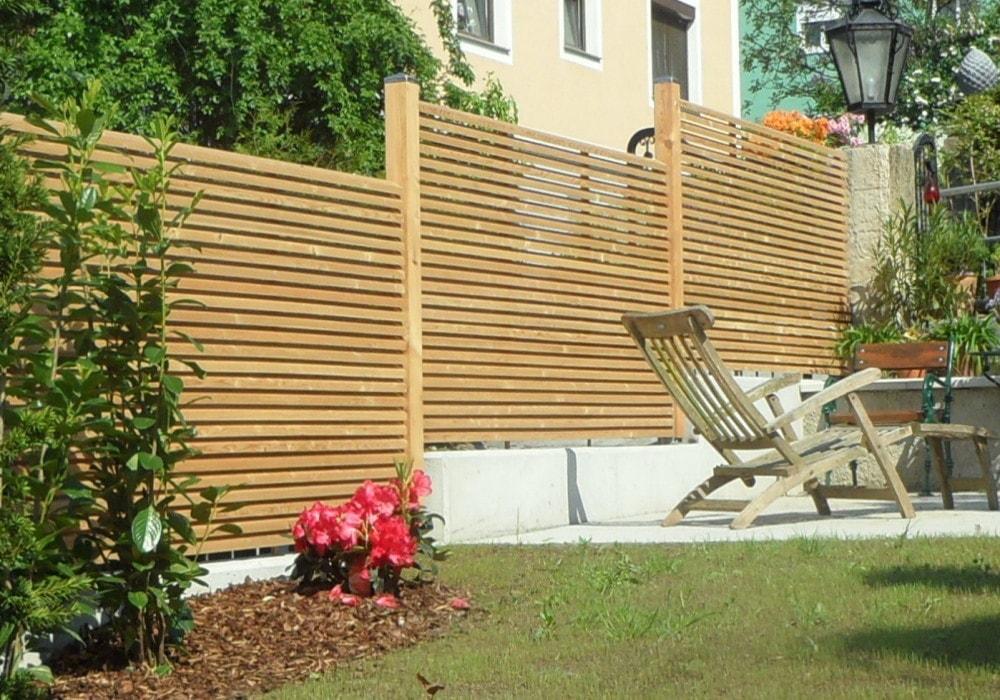 Holzzaun Terrasse Sichtschutz : Pin sichtschutz mauer on
