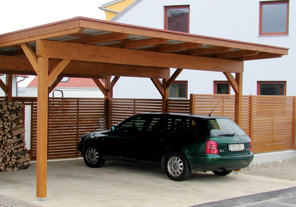 carport carports doppelcarports aus holz f r ihr auto. Black Bedroom Furniture Sets. Home Design Ideas