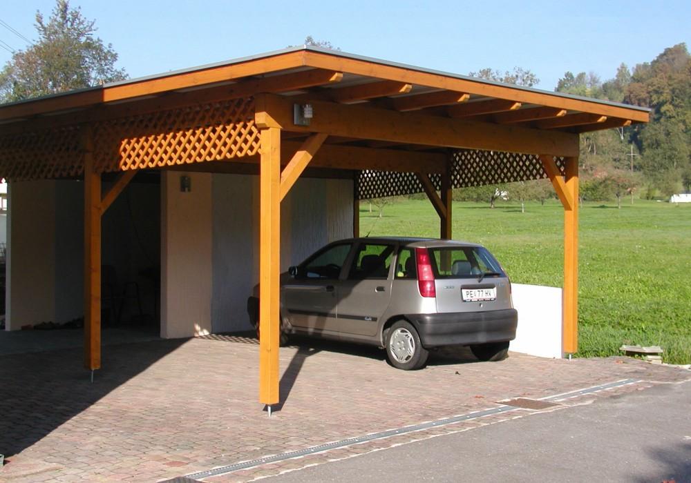 carport carports doppelcarports aus holz f r ihr auto. Black Bedroom Furniture Sets. Home Design Ideas