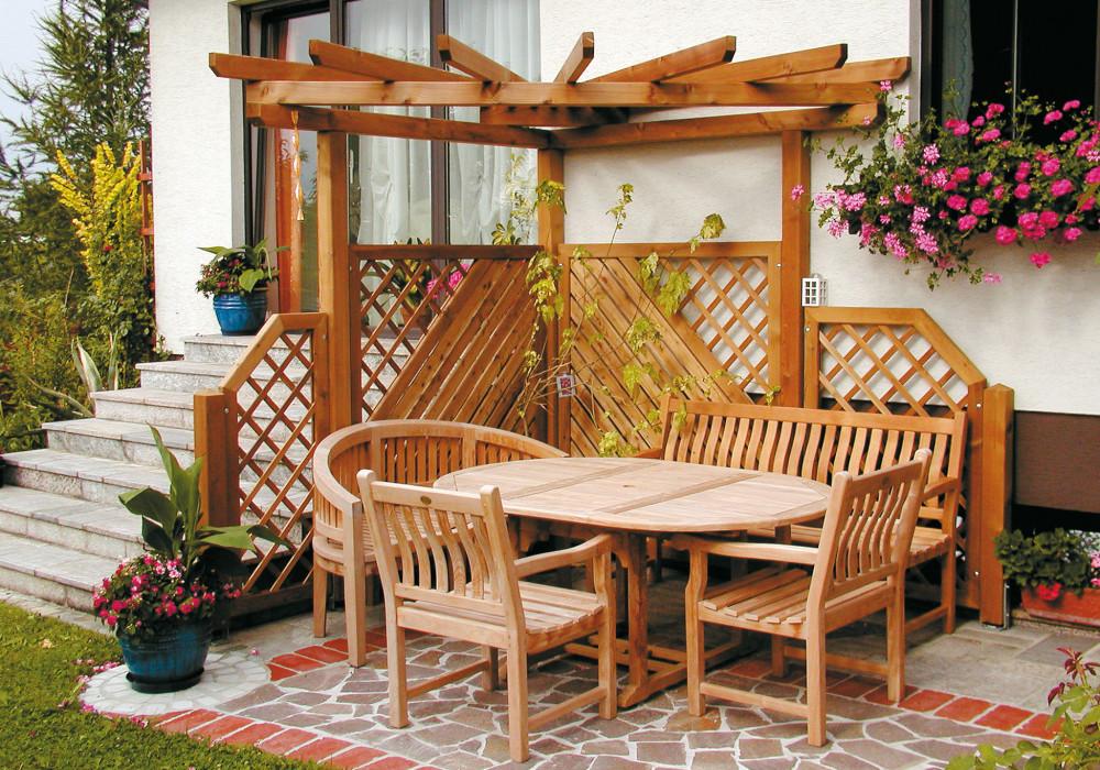 Pergola: Perfekter Sichtschutz für den Garten - Pergola aus Holz