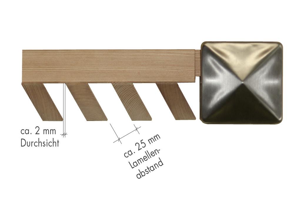 lamellenzaun l rche ihr sichtschutz aus holz von fr schl. Black Bedroom Furniture Sets. Home Design Ideas