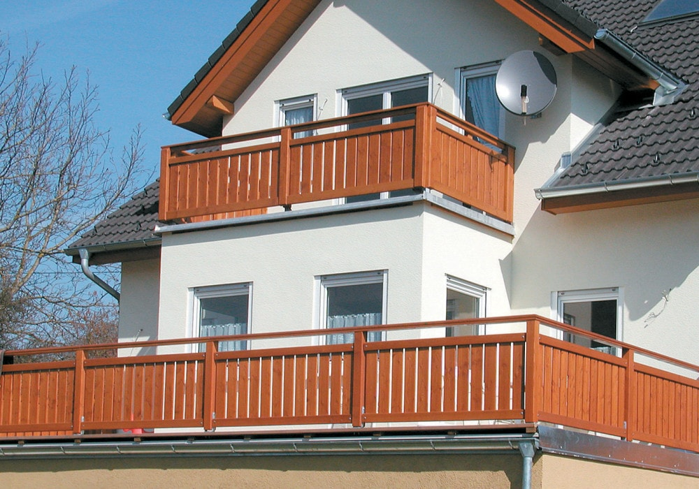 Terrassengelander Balkongelander Balkongelander Aus Larchenholz