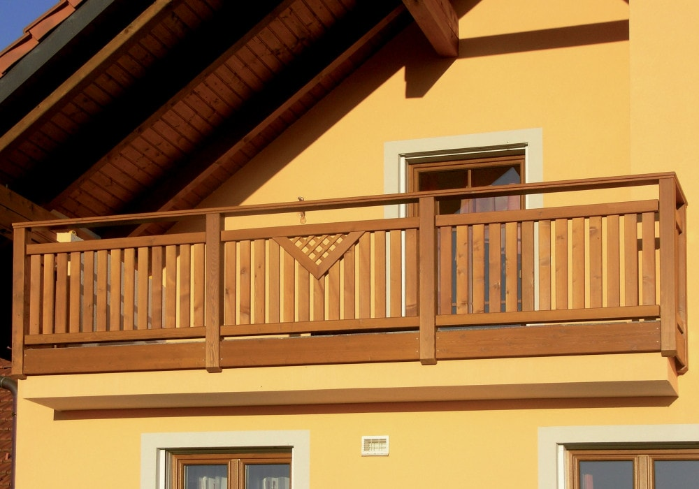 Terrassengeländer & balkongeländer: balkongeländer aus lärchenholz